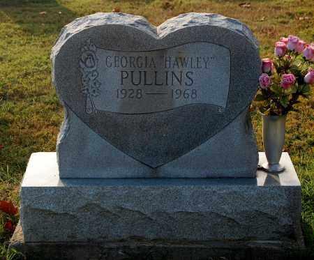 HAWLEY PULLINS, GEORGIA - Gallia County, Ohio   GEORGIA HAWLEY PULLINS - Ohio Gravestone Photos