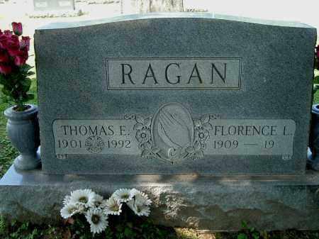 RAGAN, FLORENCE L - Gallia County, Ohio | FLORENCE L RAGAN - Ohio Gravestone Photos
