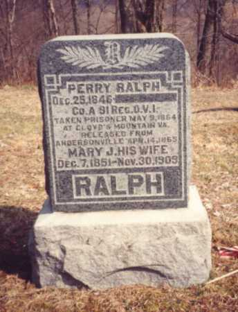 RALPH, PERRY - Gallia County, Ohio | PERRY RALPH - Ohio Gravestone Photos