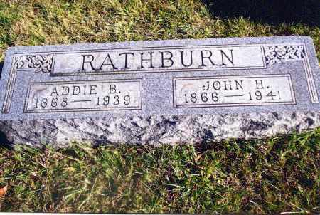 RATHBURN, JOHN H. - Gallia County, Ohio | JOHN H. RATHBURN - Ohio Gravestone Photos