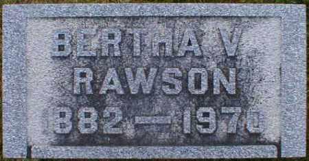 RAWSON, BERTHA - Gallia County, Ohio | BERTHA RAWSON - Ohio Gravestone Photos