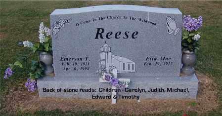 REESE, EMERSON T - Gallia County, Ohio | EMERSON T REESE - Ohio Gravestone Photos