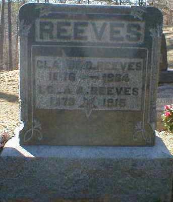 REEVES, CLAUDE - Gallia County, Ohio | CLAUDE REEVES - Ohio Gravestone Photos