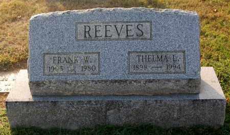 REEVES, THELMA - Gallia County, Ohio   THELMA REEVES - Ohio Gravestone Photos