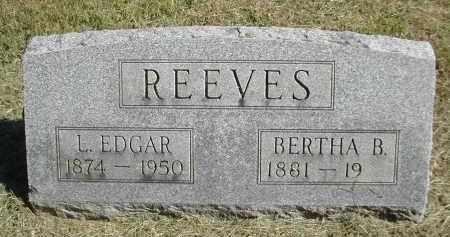 REEVES, BERTHA - Gallia County, Ohio | BERTHA REEVES - Ohio Gravestone Photos