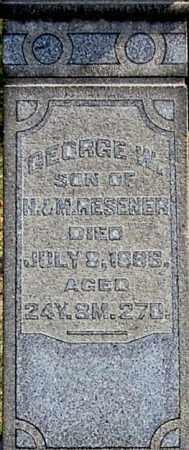 RESENER, GEORGE W (CLOSE-UP) - Gallia County, Ohio   GEORGE W (CLOSE-UP) RESENER - Ohio Gravestone Photos