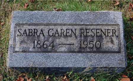 RESENER, SABRA - Gallia County, Ohio   SABRA RESENER - Ohio Gravestone Photos