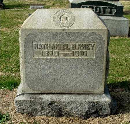 RHEY, NATHANIEL B - Gallia County, Ohio | NATHANIEL B RHEY - Ohio Gravestone Photos