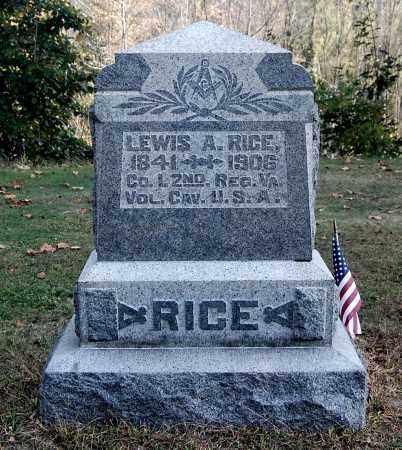RICE, LEWIS A - Gallia County, Ohio   LEWIS A RICE - Ohio Gravestone Photos