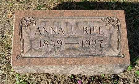 SCOTT RIFE, ANNA L - Gallia County, Ohio | ANNA L SCOTT RIFE - Ohio Gravestone Photos