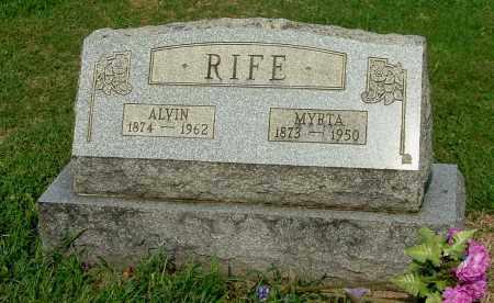 RIFE, ALVIN - Gallia County, Ohio | ALVIN RIFE - Ohio Gravestone Photos