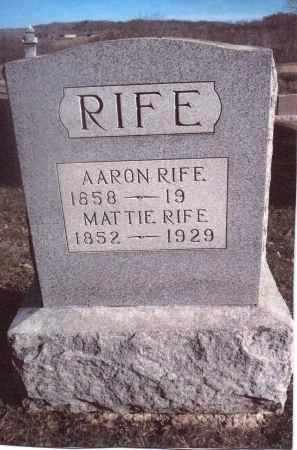 RIFE, MATTIE - Gallia County, Ohio   MATTIE RIFE - Ohio Gravestone Photos