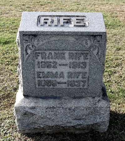 RIFE, EMMA - Gallia County, Ohio | EMMA RIFE - Ohio Gravestone Photos