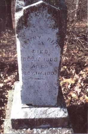 RIFE, FANNY - Gallia County, Ohio | FANNY RIFE - Ohio Gravestone Photos