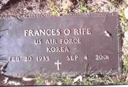 RIFE, FRANCES O. - Gallia County, Ohio   FRANCES O. RIFE - Ohio Gravestone Photos