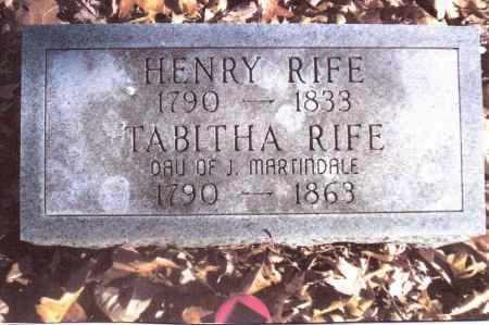 MARTINDALE RIFE, TABITHA - Gallia County, Ohio   TABITHA MARTINDALE RIFE - Ohio Gravestone Photos