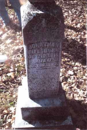 RIFE, JONATHAN - Gallia County, Ohio   JONATHAN RIFE - Ohio Gravestone Photos