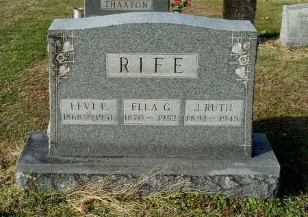RIFE, J. RUTH - Gallia County, Ohio | J. RUTH RIFE - Ohio Gravestone Photos