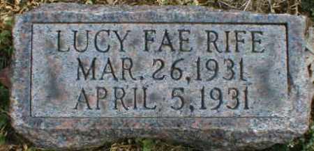 RIFE, LUCY - Gallia County, Ohio | LUCY RIFE - Ohio Gravestone Photos