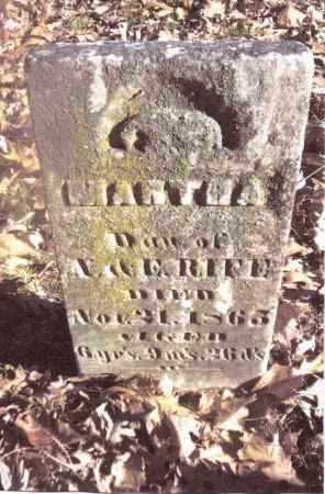 RIFE, MARTHA - Gallia County, Ohio | MARTHA RIFE - Ohio Gravestone Photos
