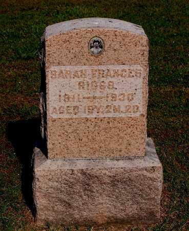 RIGGS, SARAH FRANCES - Gallia County, Ohio | SARAH FRANCES RIGGS - Ohio Gravestone Photos