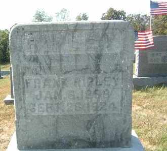 RIPLEY, FRANK - Gallia County, Ohio   FRANK RIPLEY - Ohio Gravestone Photos