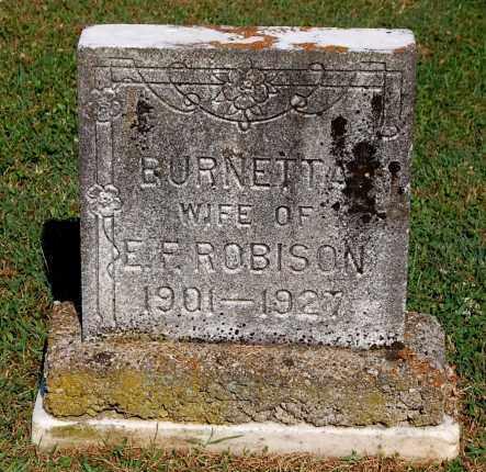 ROBISON, BURNETTA - Gallia County, Ohio   BURNETTA ROBISON - Ohio Gravestone Photos
