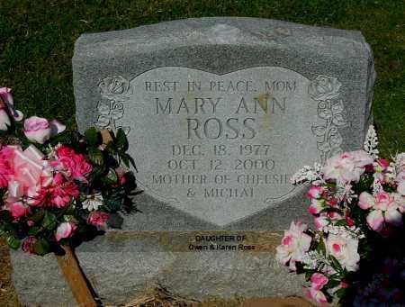 ROSS, MARY ANN - Gallia County, Ohio | MARY ANN ROSS - Ohio Gravestone Photos