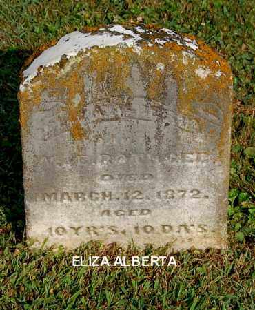 ROTHGEB, ELIZA ALBERTA - Gallia County, Ohio | ELIZA ALBERTA ROTHGEB - Ohio Gravestone Photos