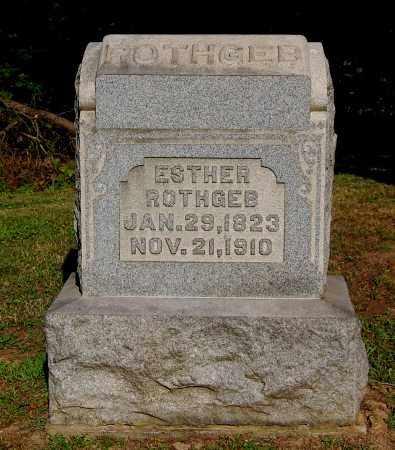 ROTHGEB, ESTHER - Gallia County, Ohio   ESTHER ROTHGEB - Ohio Gravestone Photos