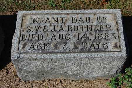 ROTHGEB, INFANT - Gallia County, Ohio | INFANT ROTHGEB - Ohio Gravestone Photos