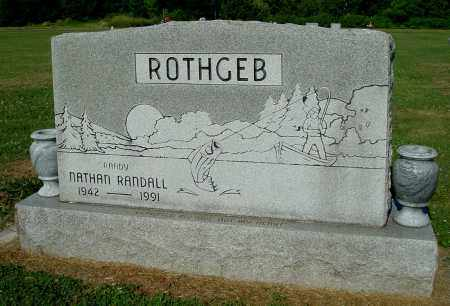 ROTHGEB, NATHAN RANDALL - Gallia County, Ohio   NATHAN RANDALL ROTHGEB - Ohio Gravestone Photos