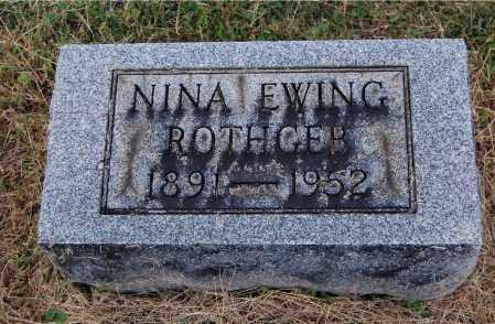 EWING ROTHGEB, NINA - Gallia County, Ohio | NINA EWING ROTHGEB - Ohio Gravestone Photos