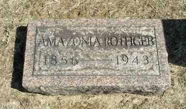 HERN ROTHGEB, SARAH AMAZONIA - Gallia County, Ohio   SARAH AMAZONIA HERN ROTHGEB - Ohio Gravestone Photos