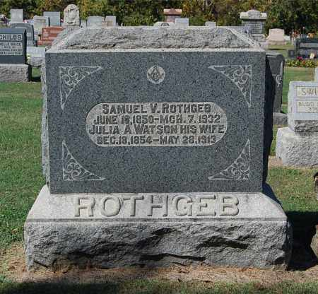 ROTHGEB, SAMUEL V - Gallia County, Ohio | SAMUEL V ROTHGEB - Ohio Gravestone Photos