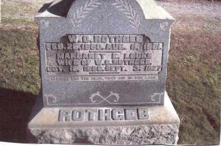 LOUKS ROTHGEB, MARGARET E. - Gallia County, Ohio | MARGARET E. LOUKS ROTHGEB - Ohio Gravestone Photos