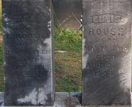 ROUSH, SARAH (CLOSE-UP) - Gallia County, Ohio | SARAH (CLOSE-UP) ROUSH - Ohio Gravestone Photos