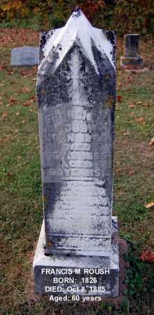 ROUSH, FRANCIS M - Gallia County, Ohio | FRANCIS M ROUSH - Ohio Gravestone Photos