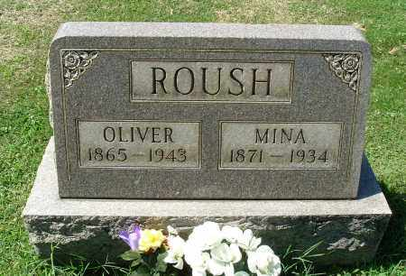 ROUSH, MINA - Gallia County, Ohio | MINA ROUSH - Ohio Gravestone Photos