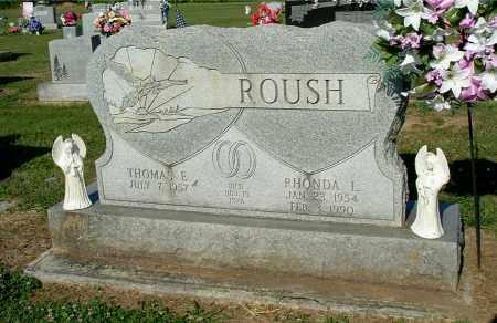 ROUSH, THOMAS E - Gallia County, Ohio | THOMAS E ROUSH - Ohio Gravestone Photos