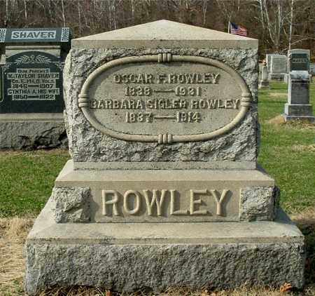 ROWLEY, OSCAR F - Gallia County, Ohio   OSCAR F ROWLEY - Ohio Gravestone Photos