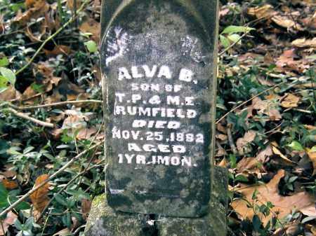 RUMFIELD, ALVA B. - Gallia County, Ohio | ALVA B. RUMFIELD - Ohio Gravestone Photos