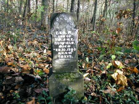 RUMFIELD, GEO. R. - Gallia County, Ohio | GEO. R. RUMFIELD - Ohio Gravestone Photos