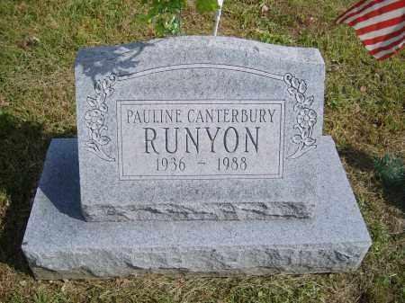 CANTERBURY RUNYON, PAULINE - Gallia County, Ohio   PAULINE CANTERBURY RUNYON - Ohio Gravestone Photos