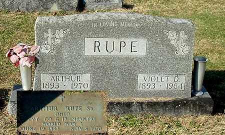 RUPE, ARTHUR, SR. - Gallia County, Ohio | ARTHUR, SR. RUPE - Ohio Gravestone Photos