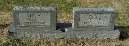 RUPE, GARNETT S - Gallia County, Ohio   GARNETT S RUPE - Ohio Gravestone Photos