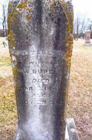 RUPE, ELIZABETH - Gallia County, Ohio | ELIZABETH RUPE - Ohio Gravestone Photos