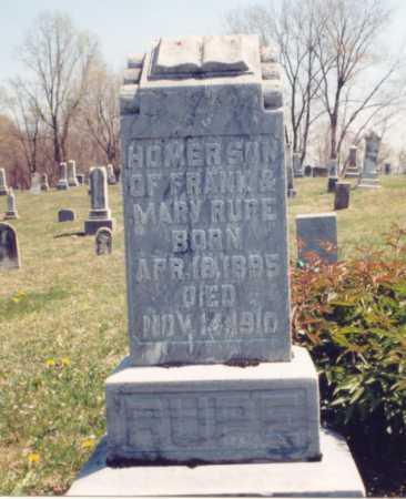 RUPE, HOMER - Gallia County, Ohio | HOMER RUPE - Ohio Gravestone Photos