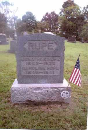 RUPE, CAROLINE - Gallia County, Ohio | CAROLINE RUPE - Ohio Gravestone Photos