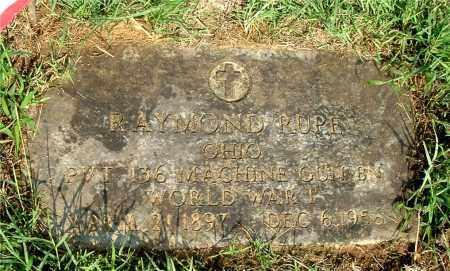 RUPE, RAYMOND - Gallia County, Ohio | RAYMOND RUPE - Ohio Gravestone Photos